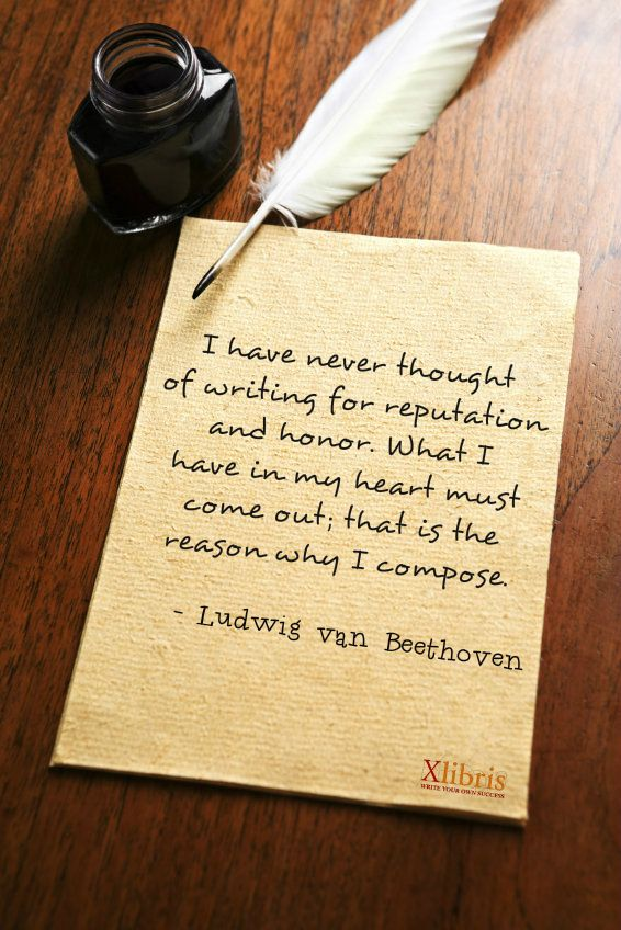 Ludwig Van Beethoven Quotes Xlibris Writing Inspiration