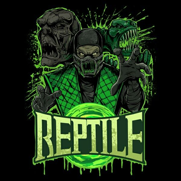 Reptile Mortal Kombat Phone wallpaper