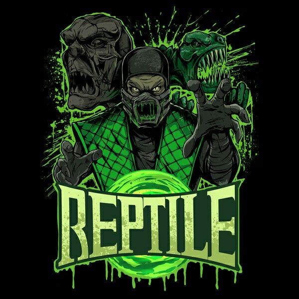 Reptile Mortal Kombat Phone wallpaper