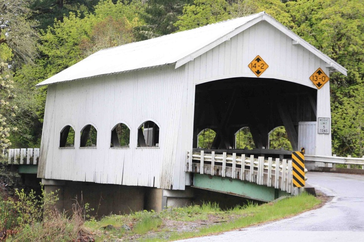 Covered bridge of long ago. Outdoor structures, Outdoor