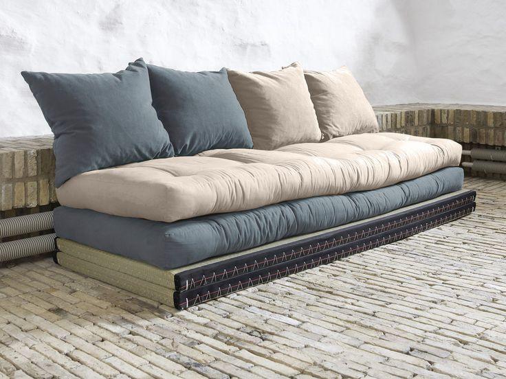 Caractéristiques techniques Matière : Revêtement du matelas futon : 100% Coton pour le coloris Naturel 70% Coton et 30% Polyester pour les coloris Gris Composition du...