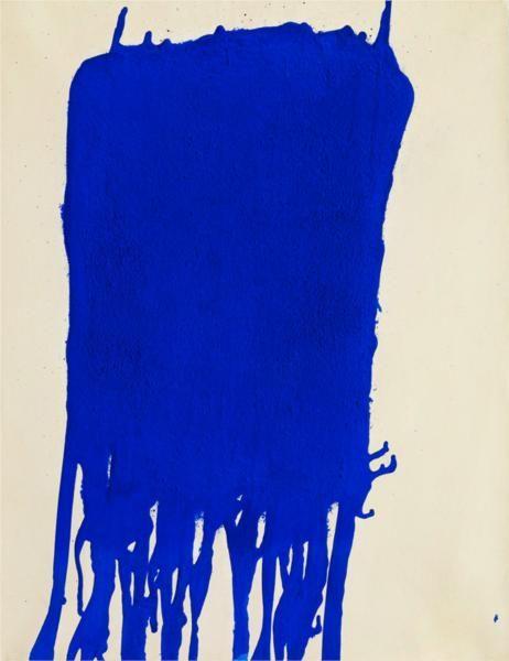 """Blue"" by Yves Klein (1960)  Art Experience NYC  www.artexperiencenyc.com"