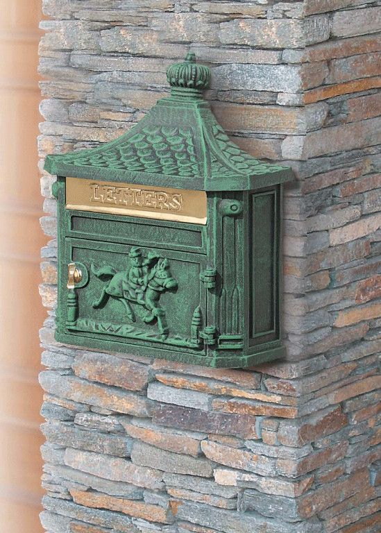 green wall mount mailbox - Wall Mount Mailbox and Things to Consider Before You Buy One  – Home Design