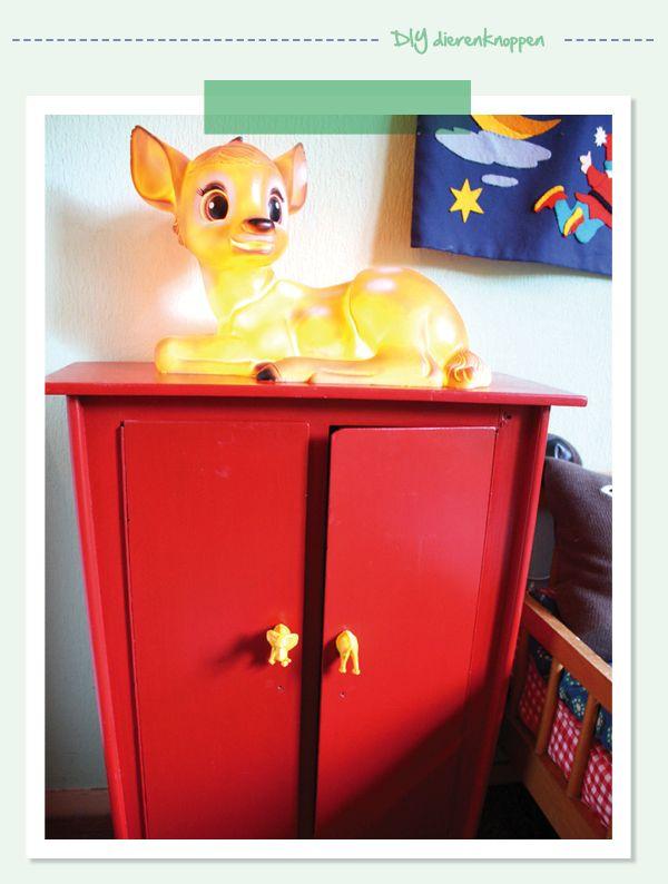 DIY animal knobs - budget friendly DIY dierknoppen op je kast