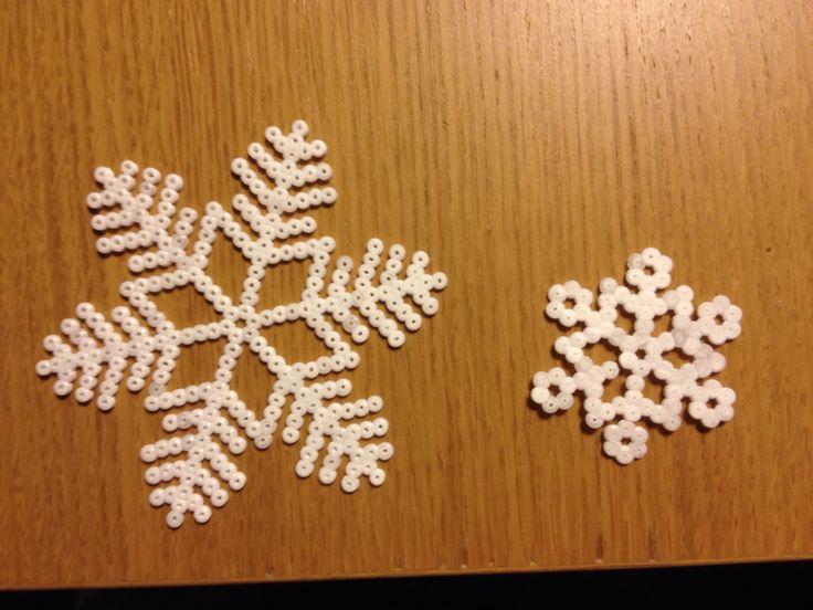 Mini Hama snowflakes