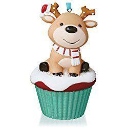 Salty and Sweet Reindeer Keepsake Christmas Cupcake Ornament 2015 Hallmark