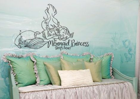 Inspired By The Little Mermaid Wall Decal Sticker Princess Sleeps Here Part 87