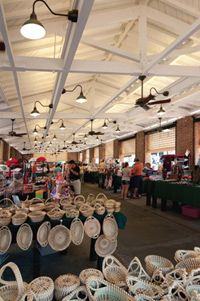 The open air market in Charleston, SC~ A long time ago I shopped here. But in times gone by this was the slave market,not a happy time for those being sold away from family members~bad times ~