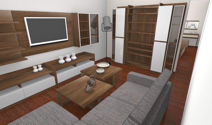Projekt łączy w sobie stylowy pokój dzienny i sypialnię. Więcej zdjęć prezentujemy na stronie projektu http://www.meble.vox.pl/projekt-voxbox-sypialnia-i-pokoj-dzienny---inbox-6082.html.
