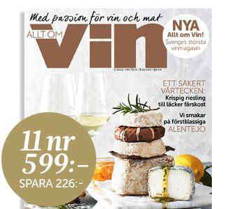 Prenumerera på Allt om Vin!