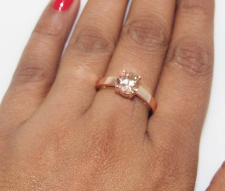 Classic 14k Rose Gold Certified 0.62 Carats Morganite Solitaire Engagement Ring | eBay