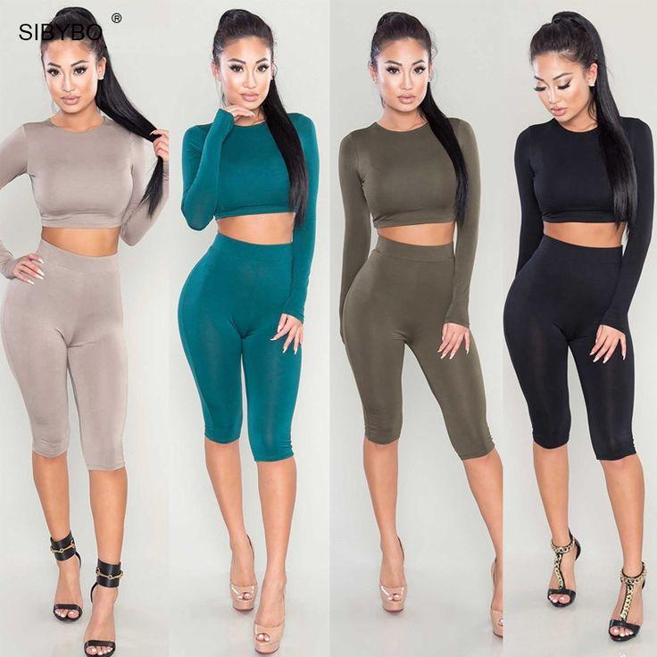 קיץ נשים סקסיות סרבל Playsuit Romper Slim OL שרוול ארוך תחבושת Bodaycon ארוך מועדון לילה שתי חתיכות תלבושות בגד גוף
