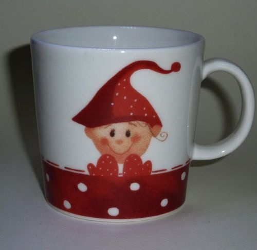 Elf boy Mug  Christmas  2006  Minna Immonen  Arabia Finland
