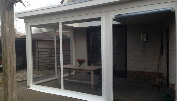 Foto's « Verandazeilen op maat!   Veranda dicht maken met zeil   Verandazeilen   Raamzeilen   Terrasschermen   Transparante folie  