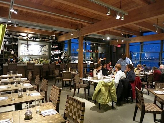 The appropriately named Waterfront Kitchen (1417 Thames Street; 443-681-5310;