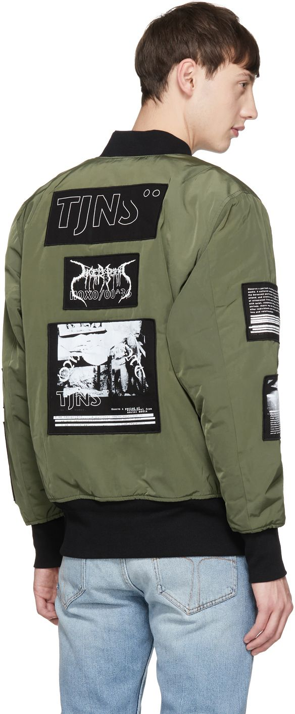 66d144d82 Tiger of Sweden Jeans - Green Sob Patches Bomber Jacket | bombers ...