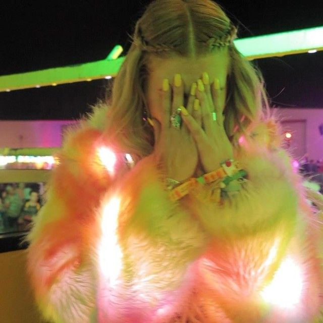 Chanel West Coast absolutely glowin~ in our J Valentine Rainbow Flashing Lights Cropped Jacket!! http://www.dollskill.com/j-valentine-rainbow-flashing-lights-cropped-jacket.html