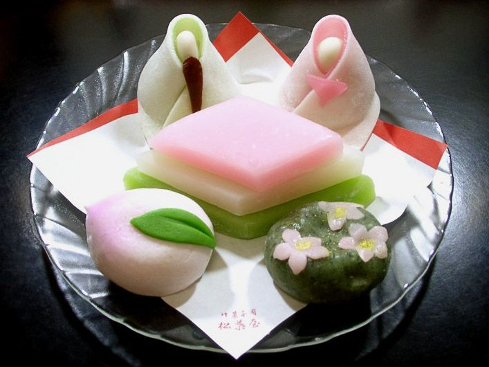 wagashi for Hina-matsuri (Japanese Girls' Day), 3 Mar.