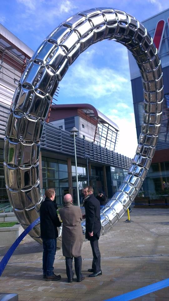 Feb 13th 2014 A new sculpture known as The Halo has been unveiled at Trinity Square in Gateshead and at 27ft tall you certainly won't miss it! (Thanks to the guys Metro Radio for the picture)
