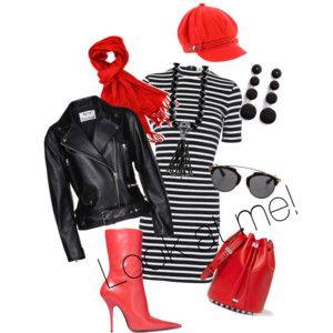 Look at me! - Koukněte na mně! - styling v kombinaci černé, bílé a červené, to vždycky funguje.