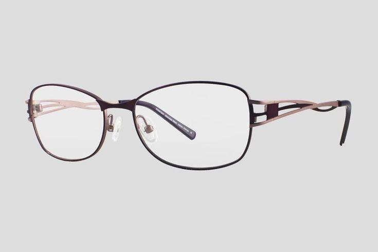 #Brillen van Exesto. Dit is de Perruche (art. nr. F10.677FPR), complete bril vanaf € 44,90. #Montuur van paars met roze RVS. Verkrijgbaar in meerdere kleuren.