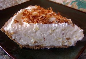 Make Ahead Pina Colada Pie -  A delicious pie recipe for the summer that tastes just like the cocktail. Enjoy! #desserts #recipes #summerrecipes #dessertrecipes  #easyrecipes