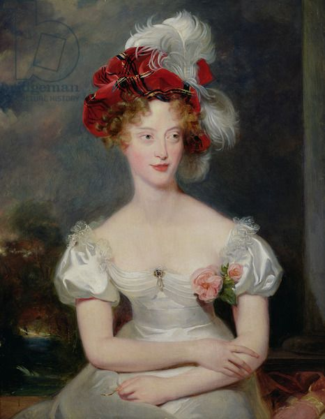 La Duchesse de Berry (1798-1870) c.1825 (oil on canvas) creator Lawrence, Sir Thomas (1769-1830) nationality English description daughter of Francis, king of the Two Sicilies; wife of Charles Ferdinand, Duc de Berry (1778-1820); mother of Comte de Chambord (1820-83); location Musee Crozatier, Le Puy-en-Velay, France