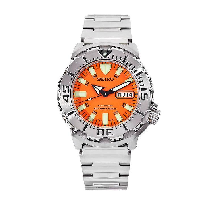 "Seiko Men's SKX781 ""Orange Monster"" Automatic Dive Watch"