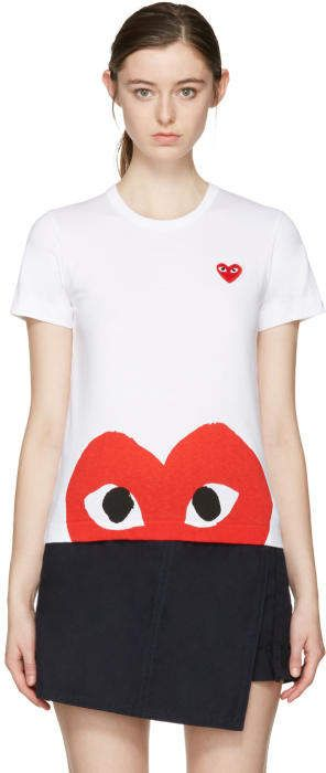 Comme des Garçons Play White Half Heart T-Shirt Fashion a0d7408d1d