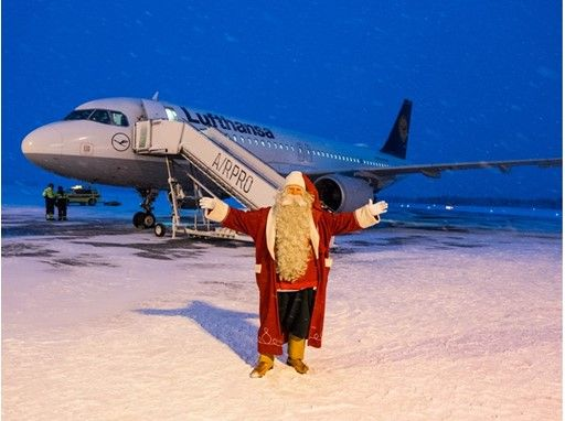 The day before Christmas Eve, Santa Claus started his journey on Lufthansa's inaugural flight from Kuusamo (Finland)    Kuusamo is the airline's thi