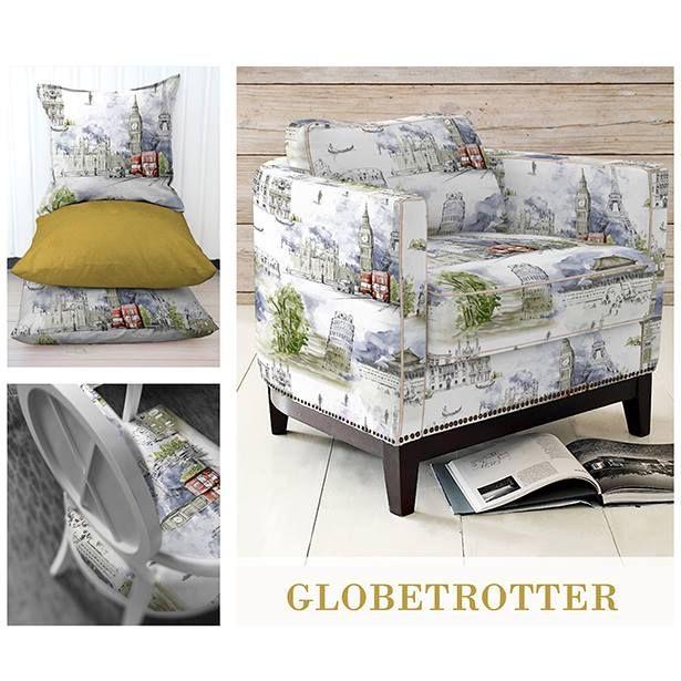 Ti-ar place sa-ti amintesti in fiecare zi de locurile frumoase pe care le-ai vizitat? O poti face acum decorand cu noua noastra colectie de tesaturi Globetrotter! http://goo.gl/gHrAZb  #tesaturi #globetrotter #draperii #mobiler