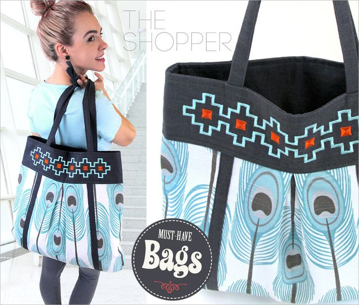 Large Embroidered Shopping Tote: Must-Have Bags with Fabric.com | Sew4Home