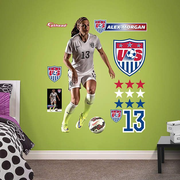 Alex Morgan Fathead Wall Decal | US Soccer Team