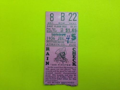 Vintage-1936-Pittsburgh-Pirates-ticket-stub-7-4-36-vs-Cubs-Waner-Vaughn