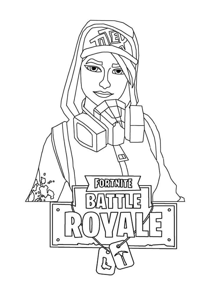 Free Printable Fortnite Female