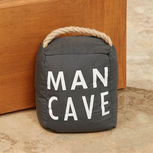 Man Cave Door Stopper Black