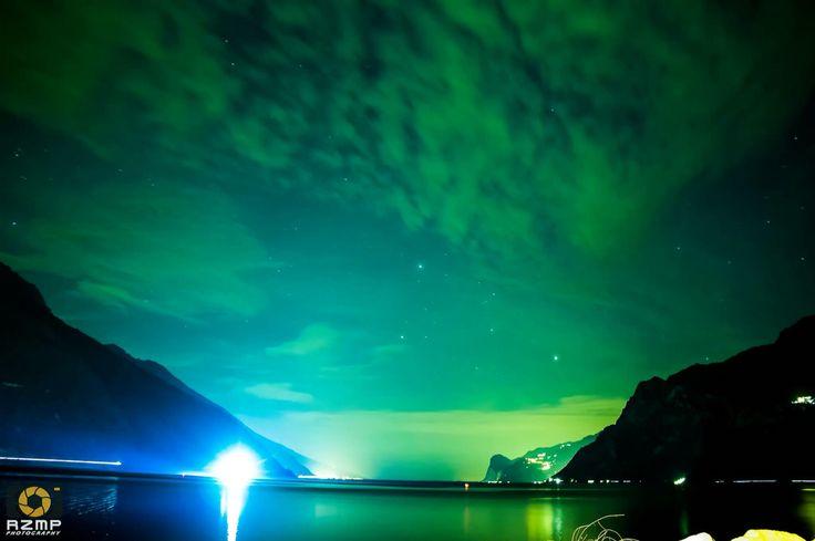 Aurora photography #northernlights #auroraphotography #canon #night #sky #lakegarda #astrography #auroraboreails #aurora #eos #lake #lago