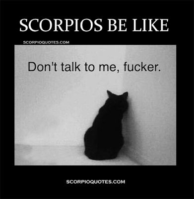 Scorpios Be Like: Don't talk to me, fucker.