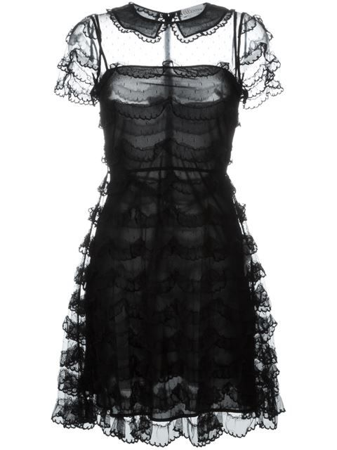 Shop Red Valentino scalloped lace dress in Vitkac from the world's best independent boutiques at farfetch.com. Shop 300 boutiques at one address.