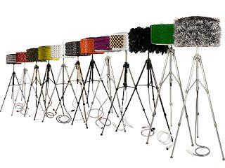 OCELLS AL TERRAT: Llums de peu fets amb tambors de rentadora /  Lámp...