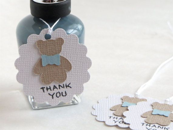 Teddy Bear thank you tags Small baby shower by WildSugarberries, $8.50