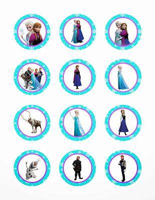 Disney Frozen Printable Cupcake Toppers