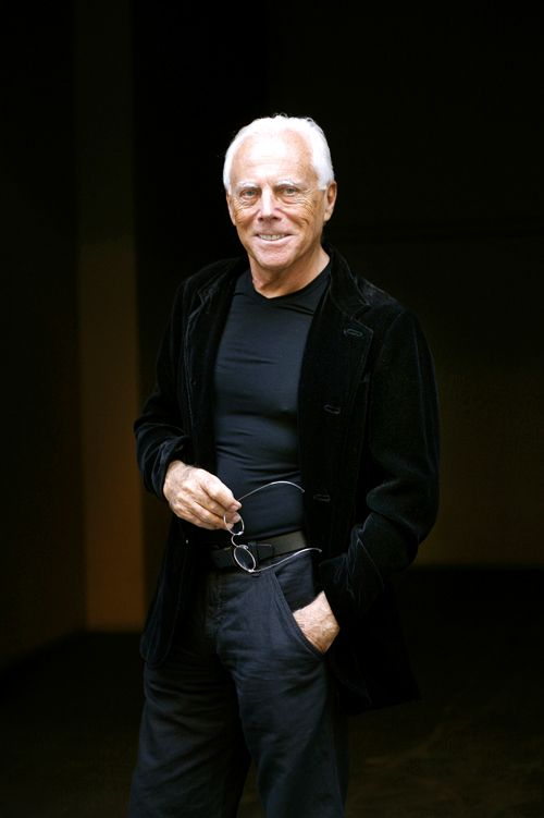 Giorgio Armani, still beautiful after all these years.