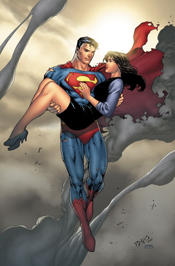 """Superman & Lois Lane by Ed Benes ❁❁❁Thanks, Pinterest Pinners, for stopping by, viewing, pinning, & following my boards.  Have a beautiful day! ❁❁❁ **<>**✮✮""""Feel free to share on Pinterest""""✮✮"""" #fashion  #gifts www.unocollectibles.com"""