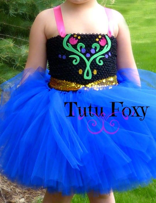 Anna Tutu Dress Anna Costume Frozen Costume Anna Dress
