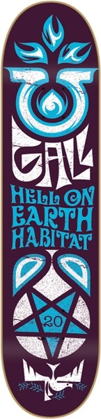"Habitat Fred Gall Hell On Earth Small Skateboard Deck - 8"" x 31"""