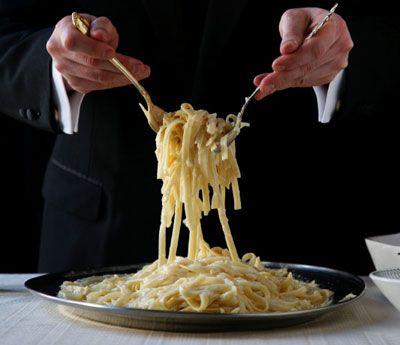 The Original Fettuccine Alfredo Recipe - Saveur.com: Fresh Eggs, Alfredo Recipes, Originals Fettuccine, Fettucin Alfredo, Fettuccine Alfredo, Italian Pasta Sauces, Eggs Pasta, Dry Pasta, The Originals