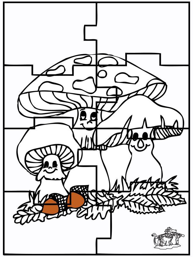 * Puzzelen: Paddenstoelen!