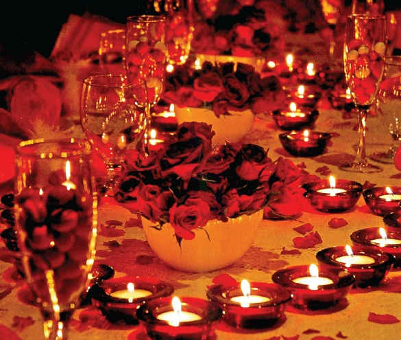 Christmas Party Venues Brisbane: Fire & Ice Table Tops