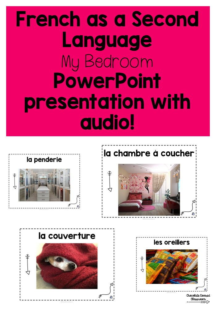 French Vocabulary Powerpoint Presentation Ma Chambre Distance